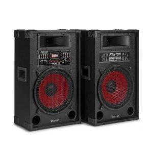 Aktivt højttalersæt SPA-12 / 2x600W / Karaoke funktion / USB/M højttaler speaker