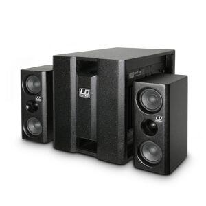 """LD Systems LD Høyttaler PA System 2.1 Aktiv 350W 8"""" 2x4"""" Sort (LDDAVE8XS)"""