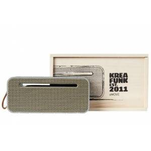 KREAFUNK Amove, Cool Grey, With Gold Front, Bluetooth-Högtalare