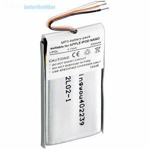 Apple iPod Nano 400 mAh Kompatibelt Batteri