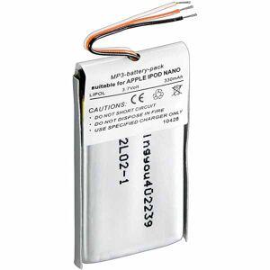 Apple iPod Nano 5. gen 400 mAh Kompatibelt Batteri