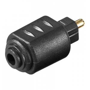 Ljud Adapter 3,5mm Toslink - Toslink kontakt