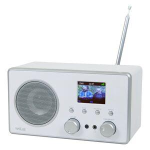 12V & 230V  Trius DB-280C DAB+/FM/BT Radio, hvit