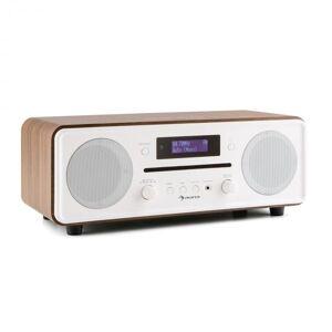 Auna Melodia CD DAB+/UKW Desktop Radio CD-Spelare Bluetooth Alarm Snooze valnöt