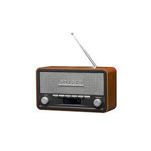 Retro DAB+ Radio (Design Small) - Mørkt træ