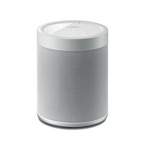 WX-021_weiß Yamaha Music Cast 20 Soundbox Nätverkshögtalare, Multiroom Wlan-Högtalare Kompatibel med Amazon Alexa Högtalare, Vit/Grå
