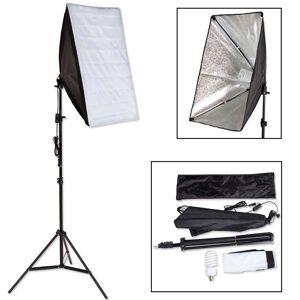 tectake Studielys til digital og analog fotografering softbox med lampe model 1 - sort
