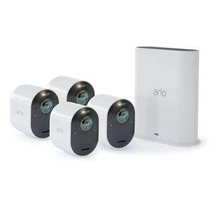Trådlöst videoövervakningssystem Arlo Ultra 2 - Startpaket med 4 kameror - Vit