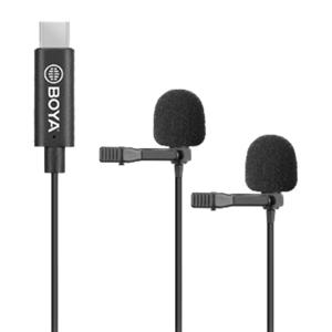 Boya By-M3d - Dual Lavalier-Mikrofon Med Usb-C-Stik - Sort