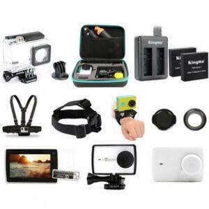 Tilläggsutrustning för Xiaomi Yi 2 actionkamera 17 delar