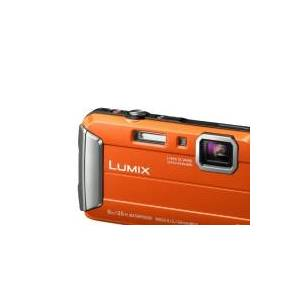 Panasonic Lumix DMC-FT30 - Digitalkamera - kompakt - 16.1 MP - 720p - 4x optisk zoom - undervands op til 8 m - orange