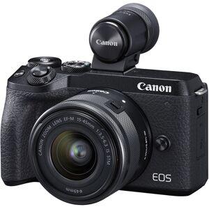 Canon EOS M6 Mark II 15-45mm og EVF-DC2 Speilløst digitalkamera