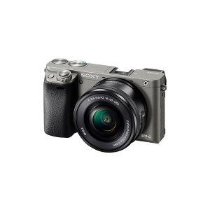 Sony a6000 ILCE-6000L - Digitalkamera - speilløst - 24.3 MP - APS-C - 1080 p / 60 fps - 3optisk x-zoom 16-50 mm Power Zoom-linse - Wi-Fi, NFC - grafittgrå