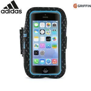 Adidas iPhone SE / 5 / 5s / 5c Adidas & Griffin Sport Løbearmbånd Sort/Blå