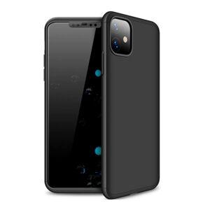 Mobiilitukku Apple iPhone 12 / 12 Pro Full 360 Suojakuori, Musta