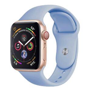 Mobiilitukku Apple Watch 38mm / 40mm Silikoni Ranneke, Sininen, M / L