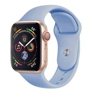 Mobiilitukku Apple Watch 38mm / 40mm Silikoni Ranneke, Sininen, S / M