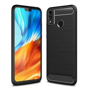 Mobiilitukku Huawei Honor 9X Lite Brushed Suojakuori, Musta