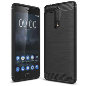 Mobiilitukku Nokia 8 Brushed Suojakuori, Musta