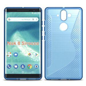 Mobiilitukku Nokia 8 Sirocco Suojakuori S-Line, Sininen