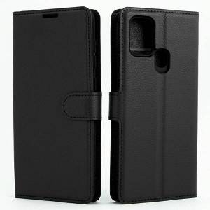 Mobiilitukku Samsung Galaxy A21s Lompakko Suojakotelo, Musta