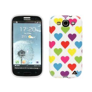 Puhelimenkuoret.fi Samsung Galaxy S3 Sydämet Suojakuori Valkoinen