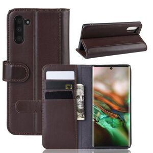 Puhelimenkuoret.fi Samsung Galaxy Note 10 Kotelo Ruskea Nahka