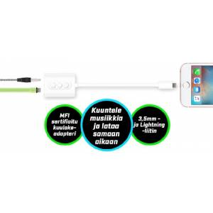 Apple WAVE 3,5mm Audioadapteri iPhone Lightning