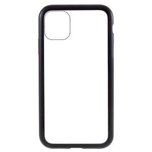 INCOVER Iphone 11 Magnetisk Metallramme M. Glass Bakdeksel - Svart