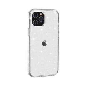 INCOVER Iphone 12 Pro Max Deksel Med Glimmer - Gjennomsiktig / Sølv