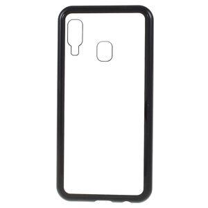 INCOVER Samsung Galaxy A40 Magnetisk Metall Deksel M. Glass Bak - Svart