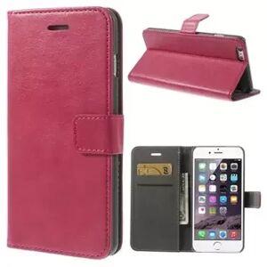 INCOVER Iphone 6/6s Plus Stylish Flip Deksel Med Lommebok - Mørk Rosa