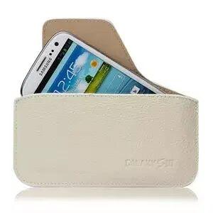 INCOVER Samsung Galaxy S3 Etui - Creme/beige Skinn