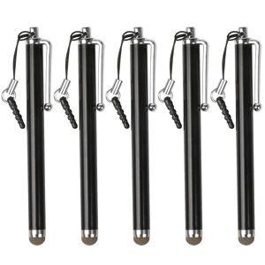 TRIXES Black Microfiber Stylus Pen 5 Pack for Smartphone & Tablet C...