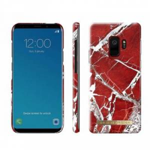 iDeal Of Sweden Fashion Case Galaxy S9 Scarlet Red Marble Galaxy S9