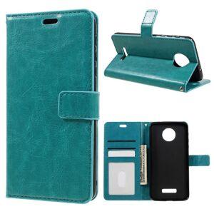 Motorola Moto Z PU Skinn FlipDeksel m. Kortholder - Blå/Grønn
