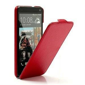 HTC One Veske/Futteral Med Flip - rød