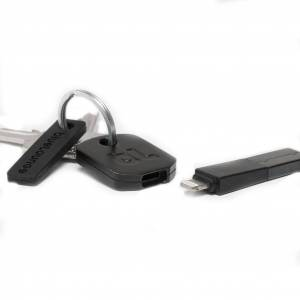 Bluelounge Kii - Lightning/USB lader iPhone 5 eller senere (Svart)