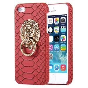 Apple Snakeskin läderfodral 5 / 5S / SE - Röd