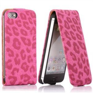 Apple Tiger Dots iPhone 5S / SE-fodral (rosa)