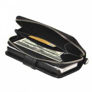 Apple Lanyard dragkedja mega handväska 5 / 5S / SE - Svart