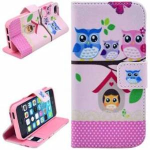 Apple Stand Short Purse Case 5 / 5S / SE - Owl Party