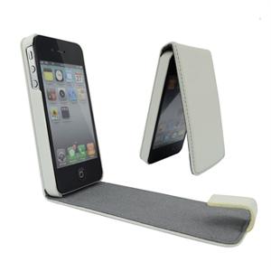 Apple iPhone 5 / 5S / SE klaffväska (vit)