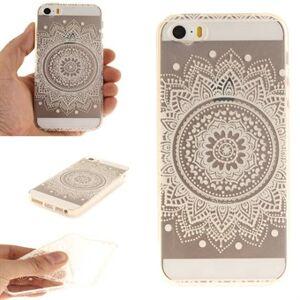 Apple Silikonfodral för modern konst för iPhone 5 / 5S / SE - White Henna Flower