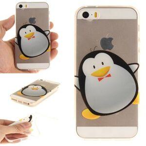 Apple Silikonfodral för modern konst för iPhone 5 / 5S / SE - Penguin