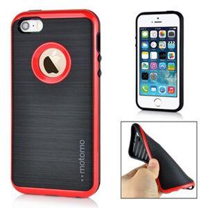 Apple Motomo smart silikonfodral för iPhone 5 / 5S / SE - Röd