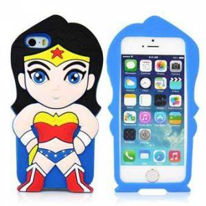 Apple 3D Silikon Superwoman Cover - 5 / 5S / SE
