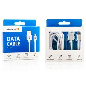 Hvit 2 Meter lang Micro USB data kabel med dobbelsidig USB plug