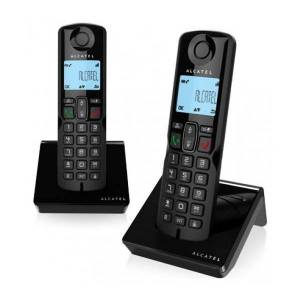 Alcatel - Trådløs Fastnettelefon - 2 Stk - S250duo - Sort