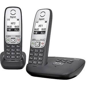 Siemens Gigaset A415A Duo DECT, GAP Trådløs analog telefonsvarertelefon, Håndfri Svart